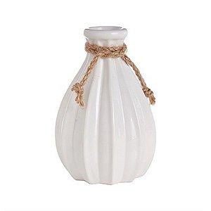 Vaso Decorativo de Cerâmica Pequeno - Branco