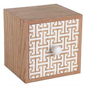 Gaveteiro Pequeno Quadrado em MDF Decorado - Design
