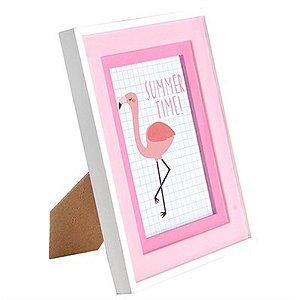 Porta-Retrato Flamingo com Paspatur - 21 x 16 cm