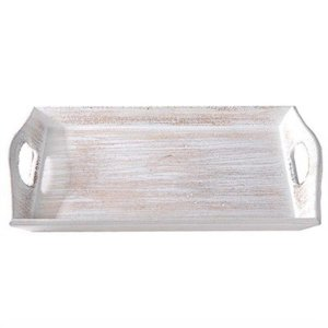 Bandeja Decorativa em MDF - Design Natural - 26,5 x 16,5 cm