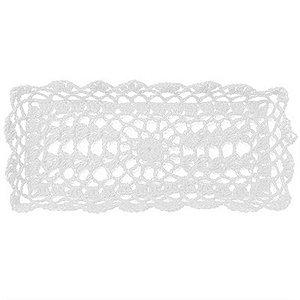 Bandeja Retangular em Crochê para Decoração - Branca (16 cm)