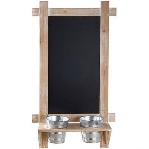 Lousa Vertical com Vasinhos para Decoração - 35 x 64 cm