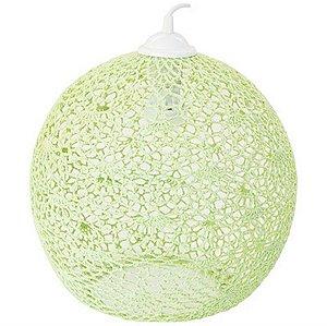 Luminária Rendada em Crochê - 110w - Verde