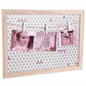 Porta-Retrato com Varal - Design Geométrico - 40 x 30 cm