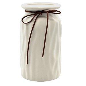Jarro Decorativo de Cerâmica - Branco