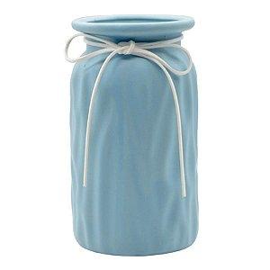 Jarro de Cerâmica Decorativo - Azul