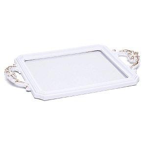 Bandeja Decorativa Espelho Branco 29X24X5  - 2 Unidades