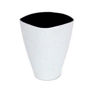 Vaso Decorativo Grande Branco 13X7,5X16,5  - 2 Unidades
