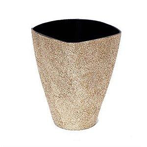 Vaso Decorativo Grande Dourado 13X7,5X16,5  - 2 Unidades