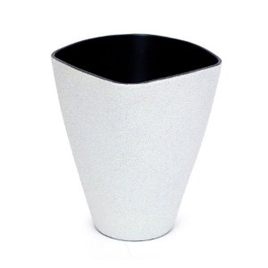 Vaso Decorativo Pequeno Branco 11X6X14  - 2 Unidades