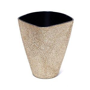 Vaso Decorativo Pequeno Dourado 11X6X14  - 2 Unidades