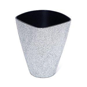 Vaso Decorativo Pequeno Prata 11X6X14  - 2 Unidades