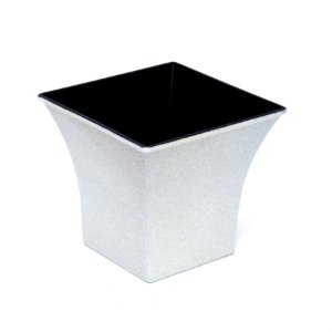 Vaso Decorativo Quadrado Branco 12X7,5X11  - 2 Unidades