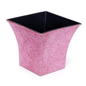 Vaso Decorativo Quadrado Rosa 12X7,5X11  - 2 Unidades