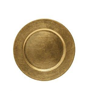 Sousplast Double Face Ouro 33 Cm - 6 Unidades