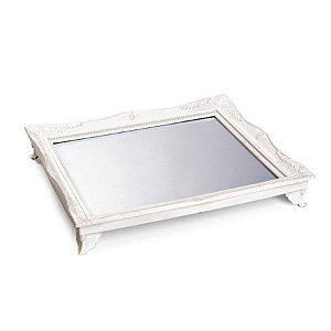 x Bandeja com Espelho Branco 29,5x24,5x4,5 - 2 Unidades