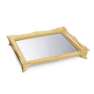 x Bandeja com Espelho Ouro 29,5x24,5x4,5 - 2 Unidades