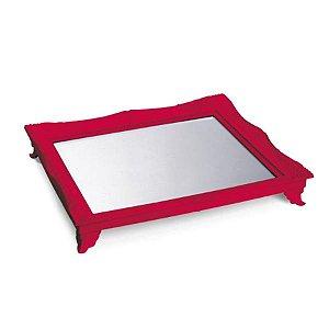 x Bandeja com Espelho Vermelho 29,5x24,5x4,5 - 2 Unidades