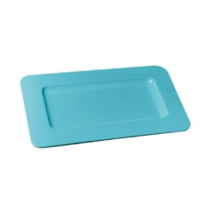 Bandeja Decorativa Double Face Azul 35,5x18x1,5 - 2 Unidades