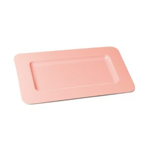 Bandeja Decorativa Double Face Rosa 35,5x18x1,5 - 2 Unidades