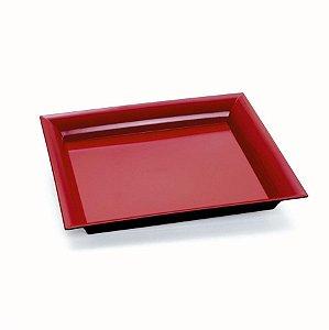 Bandeja Decorativa Quadrada Vermelho 25x25x2,5 - 2 Unidades