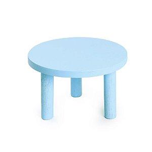 Banquinho de Madeira Azul Médio 22x22x13 - 2 Unidades