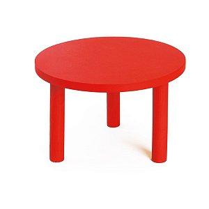 Banquinho de Madeira Vermelho Médio 22x22x13 - 2 Unidades