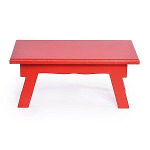 Banquinho de Mesa Alto Vermelho 25x14x11 - 2 Unidades