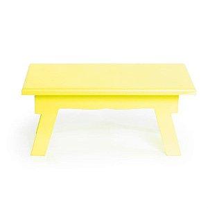 Banquinho de Mesa Baixo Amarelo 21x14x8,5 - 2 Unidades