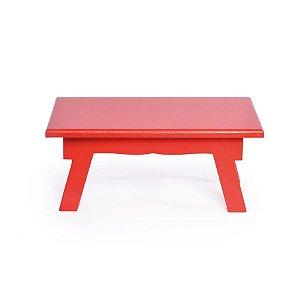 Banquinho de Mesa Baixo Vermelho 21x14x8,5 - 2 Unidades