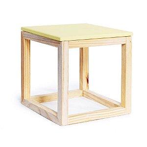 Cubo Vazado de Mesa Amarelo Claro 15x15x15,5 - 2 Unidades