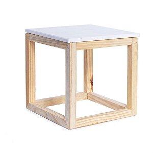 Cubo Vazado de Mesa Branca 15x15x15,5 - 2 Unidades
