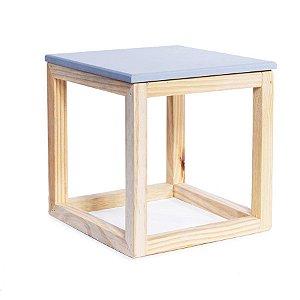 Cubo Vazado de Mesa Cinza 15x15x15,5 - 2 Unidades