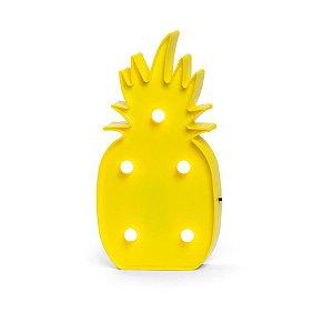 Luminoso Abacaxi com Led Amarelo - 2 Unidades