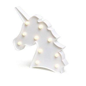 Luminoso Cabeca Unidades Unicórnio com Led Branco - 2 Unidades