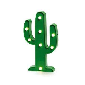 Luminoso Cacto com Led Verde - 2 Unidades