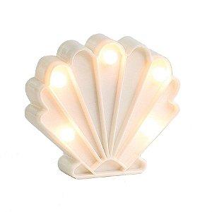 Luminoso Concha do Mar com Led Branco - 2 Unidades