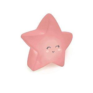 Mini Luminaria Estrela Rosa - 2 Unidades