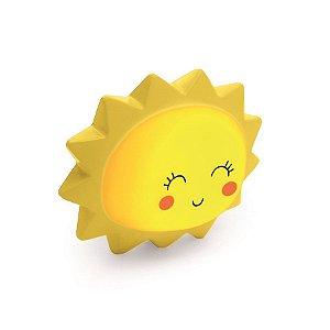 Mini Luminaria Sol Amarelo - 2 Unidades