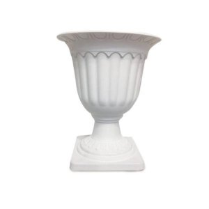 Vaso Roma Branca Médio 18x18x21 - 2 Unidades