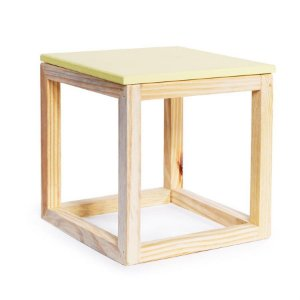 Cubo Vazado de Mesa Amarelo Claro Médio 20x20x21 - 1 Unidade
