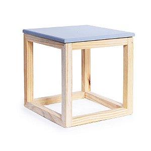 Cubo Vazado de Mesa Cinza Médio 20x20x21 - 1 Unidade