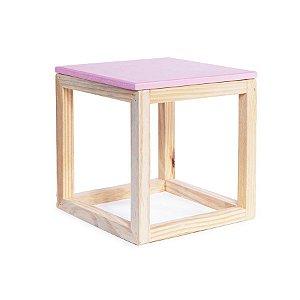 Cubo Vazado de Mesa Rosa Médio 20x20x21 - 1 Unidade