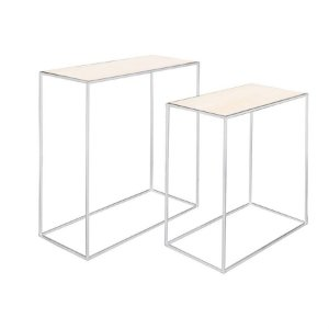 Conjunto de Mesas Retangulares Branco - 1 Unidade