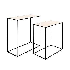 Conjunto de Mesas Retangulares Preto - 1 Unidade