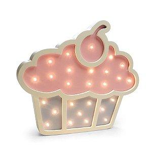 Led de Madeira Cupcake - 1 Unidade