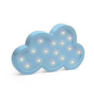 Led de Madeira Nuvem Azul - 1 Unidade