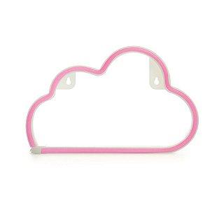 Silhueta de Led Nuvem Rosa 29,5x2x18,5 - 1 Unidade
