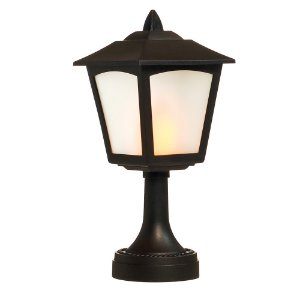Poste de Mesa com Lâmpada 2 AA Preto (Lanternas) - 1 Unidade