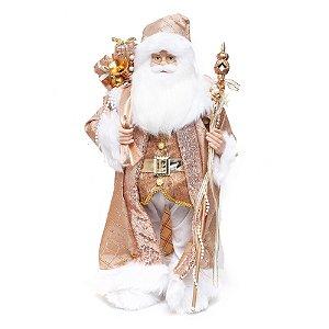 Noel em Pé com Cetro Rosê e Branco G - 1 Unidade